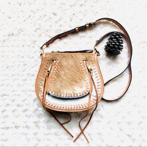 NWOT Rebecca Minkoff calfhair crossbody saddlebag